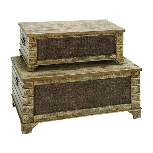 Woodland Imports Storage Trunk (Set of 2)