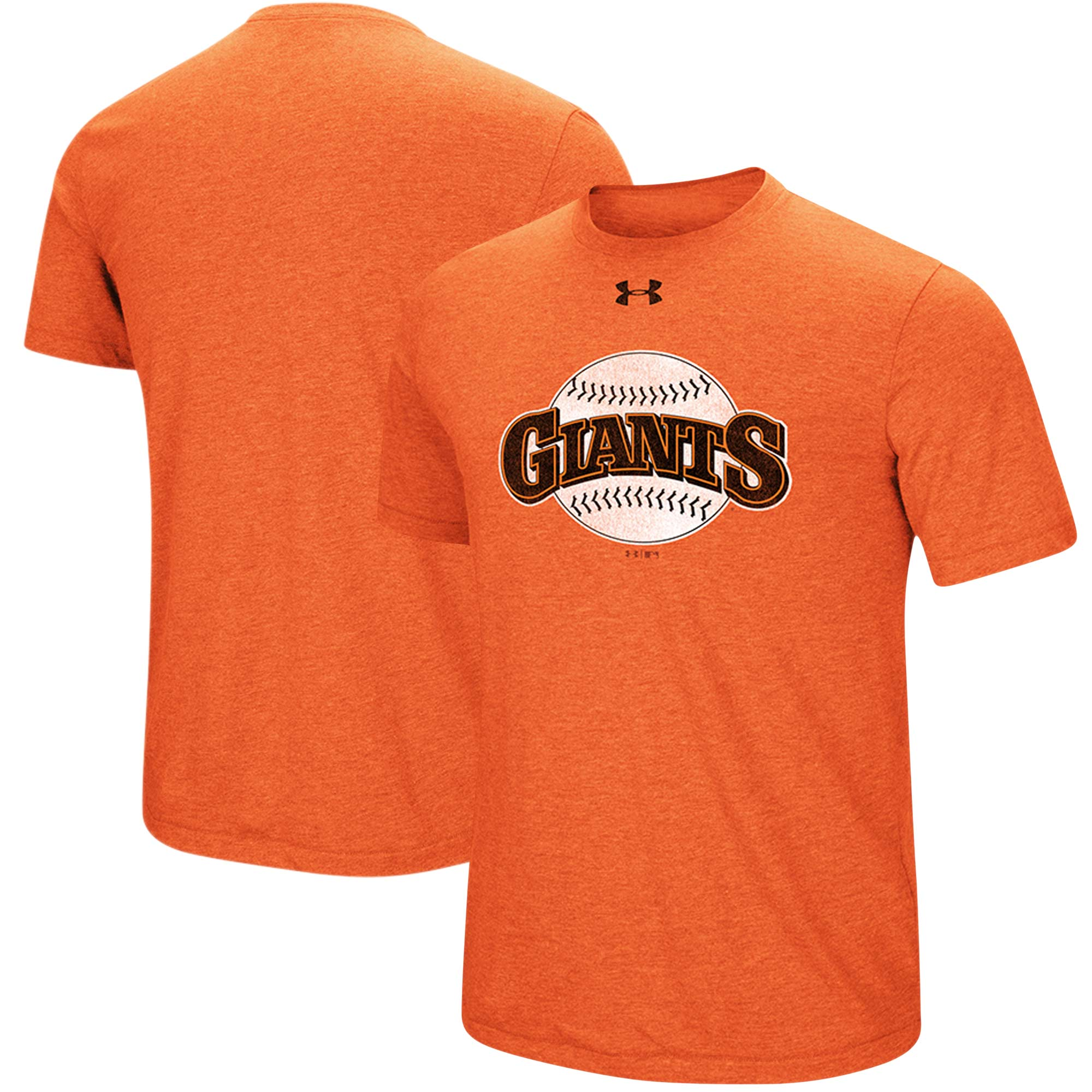 San Francisco Giants Under Armour Cooperstown Collection Mark Performance Tri-Blend T-Shirt - Heathered Orange
