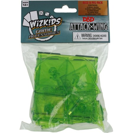 D&D Attack Wing: Base and Peg Set - Green (Build A Base And Attack Others Game)