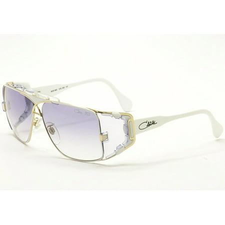 Cazal Legends 955 332 White/Gold Full Rim Rectangular Sunglasses