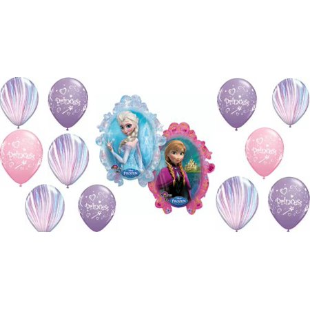 Disney Frozen Supershape Birthday Balloon Decoration 13 Piece Set (Balloons Price)
