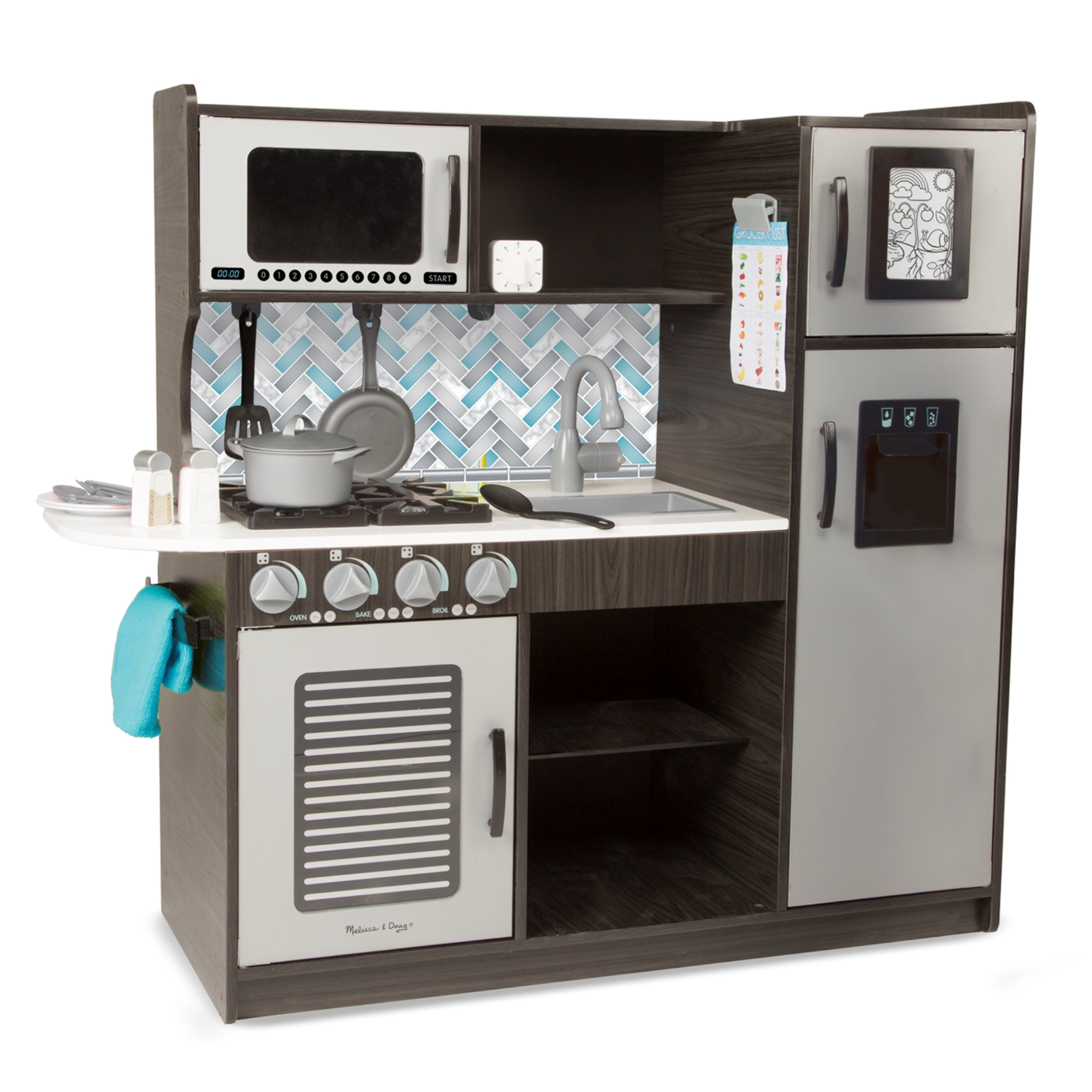 Peachy Melissa Doug Chefs Kitchen Pretend Play Set Charcoal Interior Design Ideas Oxytryabchikinfo