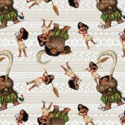 "Disney-Moana 43/44"" 100% Cotton 15yd D/R-Moana And Friends"