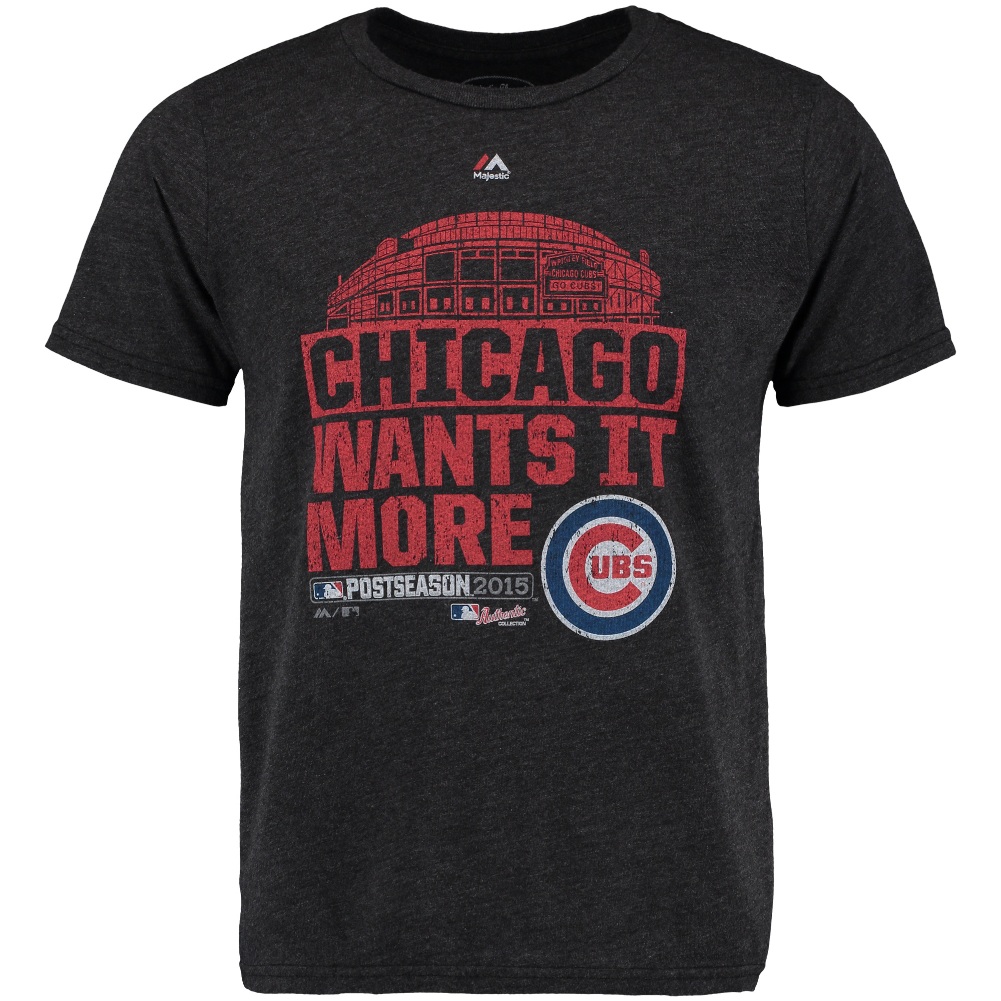 Chicago Cubs Majestic Threads Division Series Winner Clubhouse Tri-Blend T-Shirt - Black