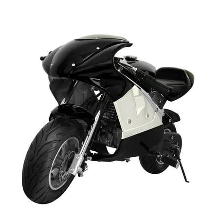 (KingSports Black 40cc Gas Mini Pocket Bike Off-Road Motorcycle 45