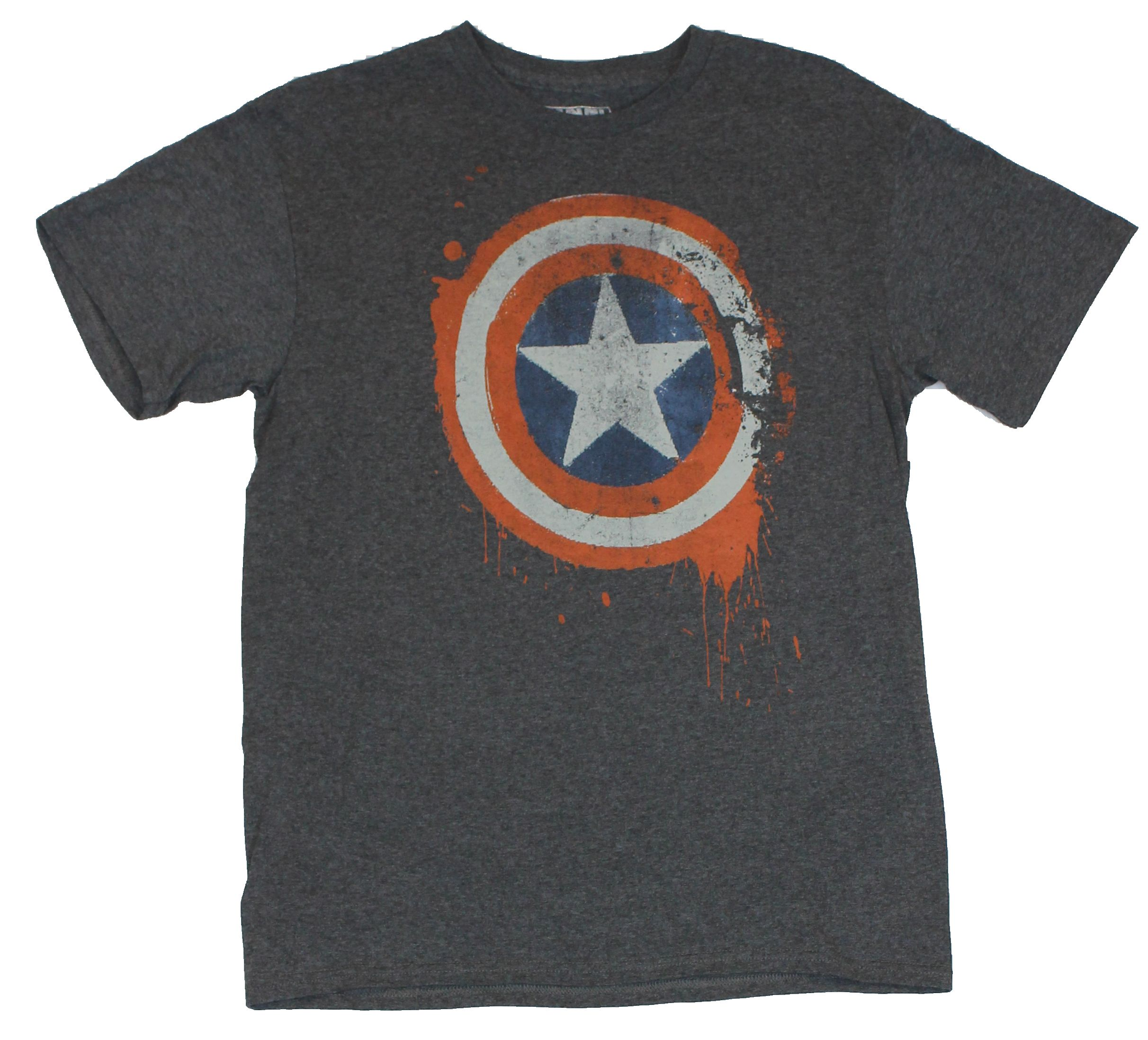 5XL Licensed Marvel Comics Captain America Distressed Shield Men/'s T-Shirt S