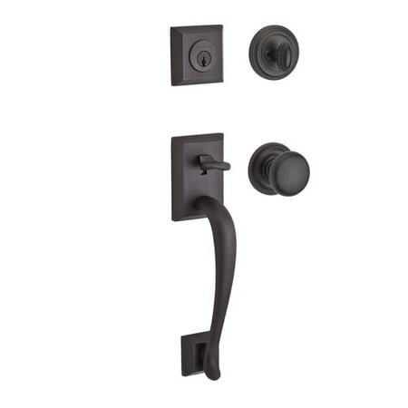 Baldwin Napa Single Cylinder Handleset with Traditional Round Rose and Round interior Knob ()
