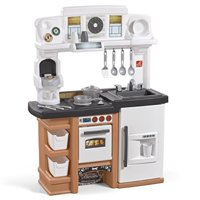 Step2 899399 Espresso Bar Play Kitchen for Kids, Tan