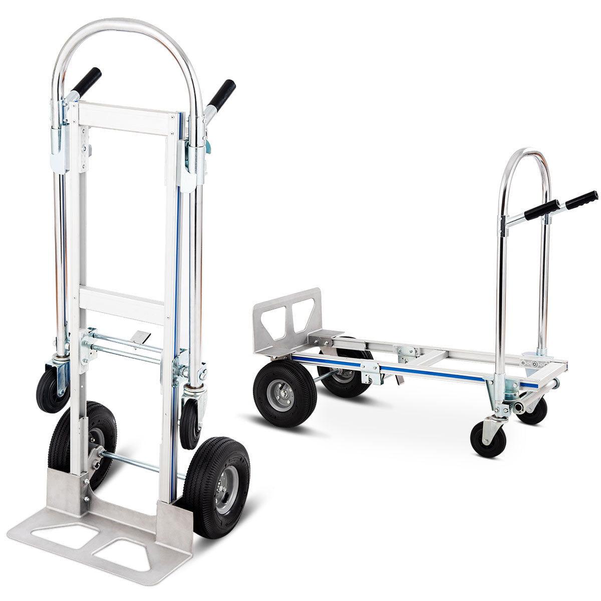 Costway 2in1 Aluminum Hand Truck Convertible Folding Dolly Platform Cart 770LBS Capacity