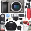 Sony Alpha a6000 24.3MP Grey Interchangeable Lens Camera Body + 16GB Class 10 UHS SDHC Memory Card + NP-FW50 Battery Pack + Accessory Bundle E12SNILCE6000H CAMERA INCLUDES:Sony Alpha A6000 Mirrorless Digital Camera (Body Only)NP-FW50 Lithium-Ion Rechargeable Battery (1080mAh)AC Adapter AC-UB10Micro USB CableLimited 1-Year WarrantyBUNDLE INCLUDES:Sony LCS-X20 Soft Carrying Case 64GB Class 10 UHS-1 SDXC Memory CardNP-FW50 Camera Replacement BatteryCorel PaintShop Pro X812-inch Rubberized Spider TripodBounce Zoom Slave FlashWireless Shutter Release RemoteLCD Lens Cleaning Pen1 Piece Microfiber Cleaning ClothMemory Card WalletCard ReaderMini TripodScreen ProtectorsDust Removal Blower System