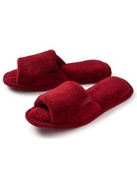 Roxoni Women's  Open Toe Terry Pool & Bath Slipper -sizes 6 to 11 -style #2186