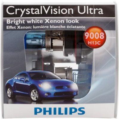 Phillips Crystal Vision Ultra H13 Xenon Headlight Bulb Set (9005 Phillips Xtreme Vision)