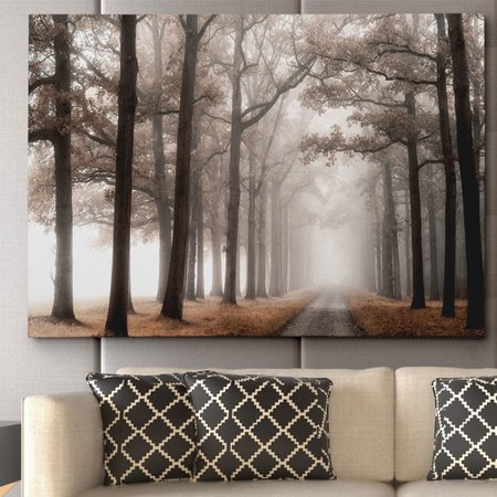 Wexford Home ''Misty Road'' by Lars Van de Goor Photographic Print on Wrapped Canvas