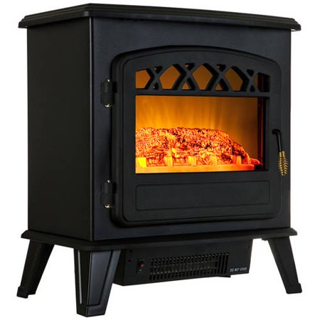 Akdy Fp0037 20 1500w Freestanding Electric Fireplace Stove Heater With Vintage Glass Door