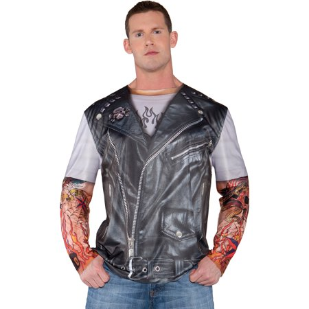 Photo-Real Biker Jacket Adult Halloween - Biker Babe Costume Halloween