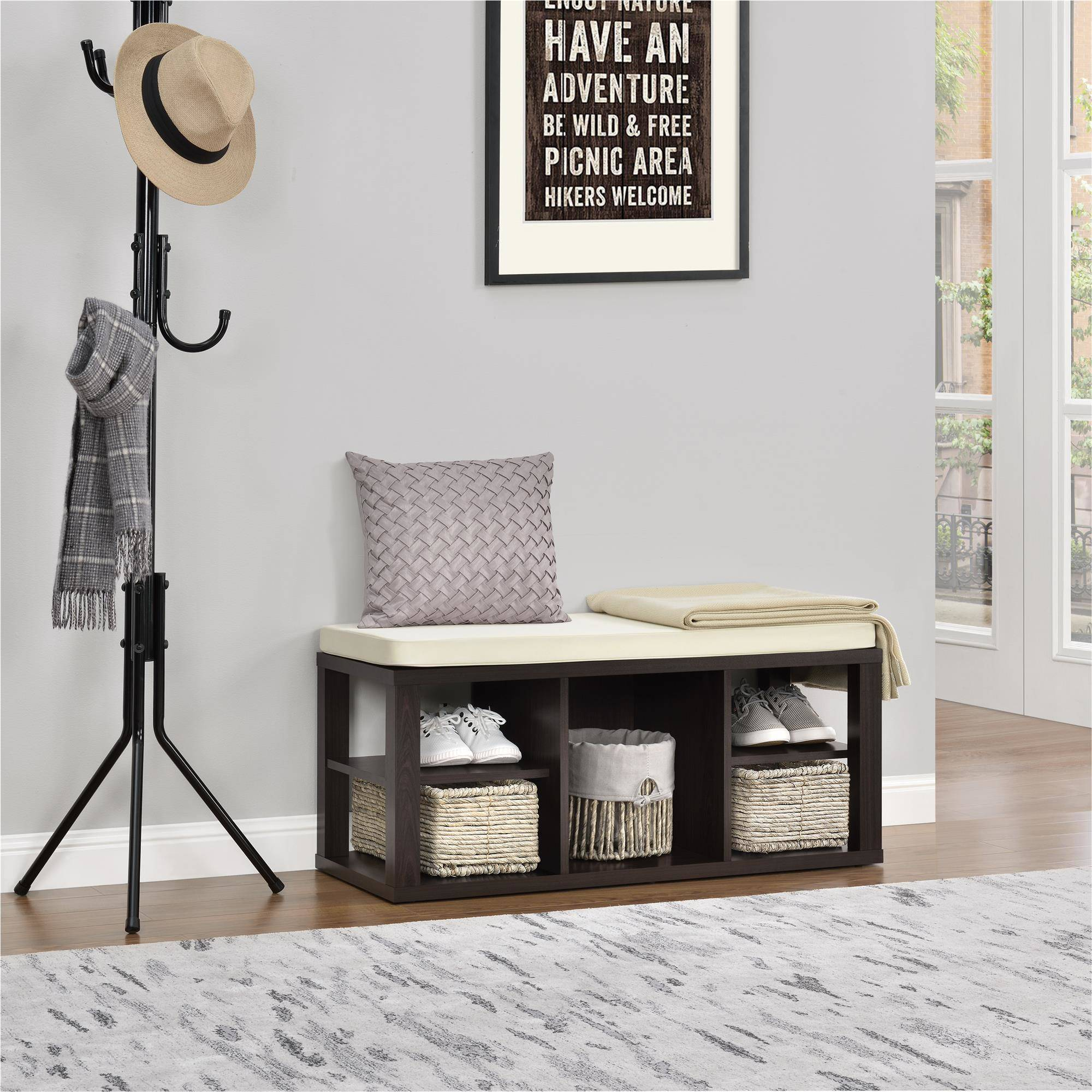 Ameriwood Home Parsons Storage Bench, Multiple Colors