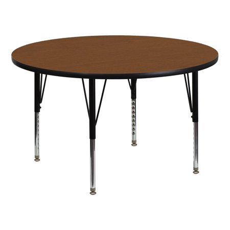 - Flash Furniture 42'' Round Activity Table with Oak Thermal Fused Laminate Top and Standard Height Adjustable Legs