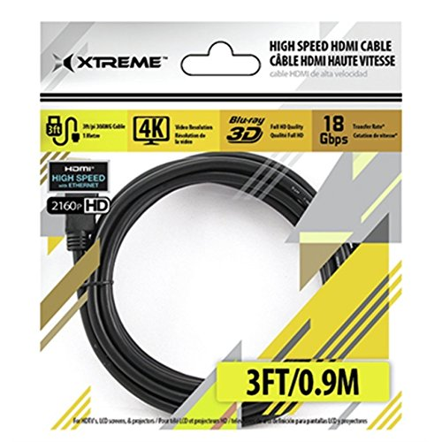 Xtreme High Speed HDMI 3-Feet Gold Plated 4K - Poly Bag