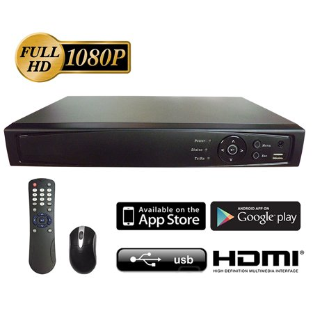 101AV Digital Surveillance Recorder 4-Channel HD-TVI 1080p H.264 HD DVR with 1TB Hard Drive for CCTV Camera Security System Network (Only work with HD-TVI Cam, Standard Analog Cam and IP Cam)