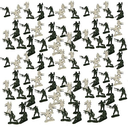 Dazzling Toys Lot of 144 Mini Soldier Figurines, Various Styles.