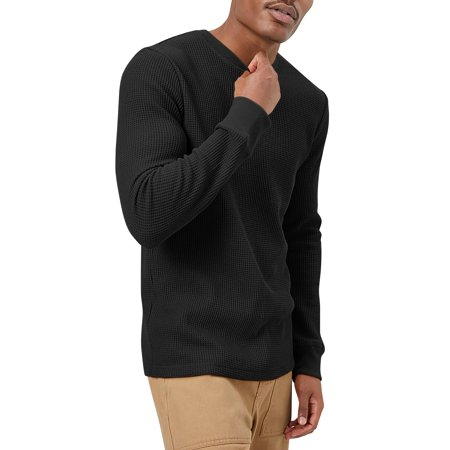 Mens Heavyweight Thermal Shirt Soft Cotton Active Big and Tall Stretchy Waffle Tee (Nike Waffle Shirt)