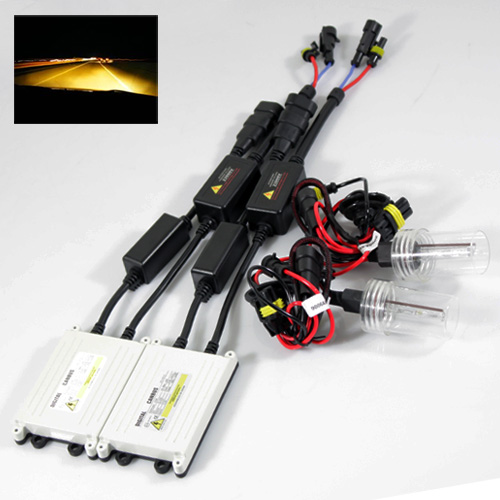 ModifyStreet® 9006/HB4 35W Slim AC Canbus Ballast Xenon HID Conversion Kit - 3000K Yellow