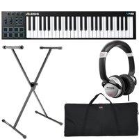 Alesis V49 | 49-Key USB MIDI Keyboard & Drum Pad Controller + DJ Headphones + Keyboard Stand, Bag