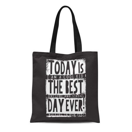 ASHLEIGH Canvas Tote Bag Stay Cool Awesome Slogan Graphics Street Tee Always Best Durable Reusable Shopping Shoulder Grocery