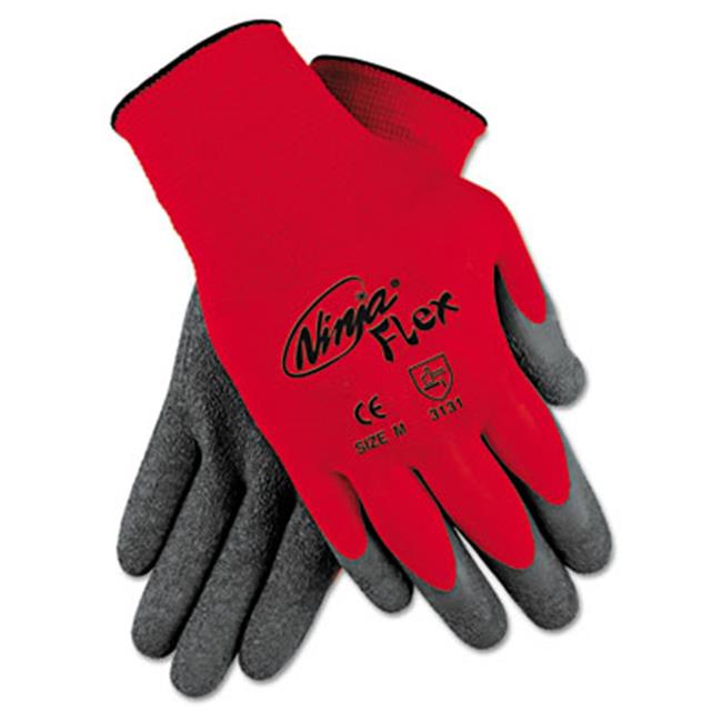Mpg N9680L Ninja Flex Latex-Coated-Palm Gloves - Red & Gr...