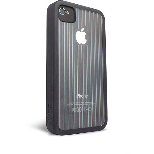 iFrogz Mix Case for iPhone 4/4S, Black and Clear with Black Pinstripes