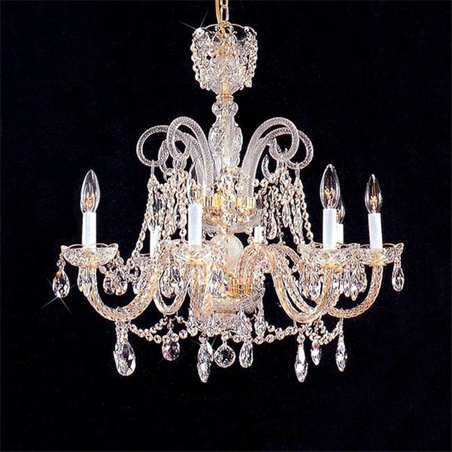 8 Light Crystal Chandelier - Gold- 48-9000-8HB