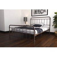 DHP Wallace Metal Bed, Multiple Sizes and Multiple Colors Available