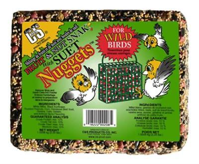 2.25 LB Fruit and Nut Snak Bird Food Cake With Suet Nuggets Cake Is Held 2PK by