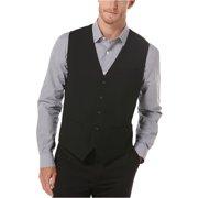 Perry Ellis Mens Edv Five Button Vest, black, Small (Regular)