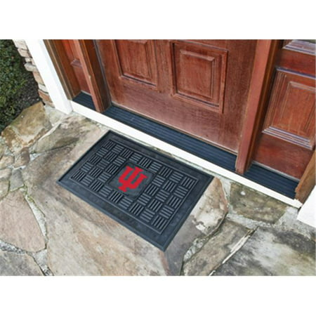 Fanmats 11392 COL - 19 inch x30 inch  - Indiana University Medallion Door Mat