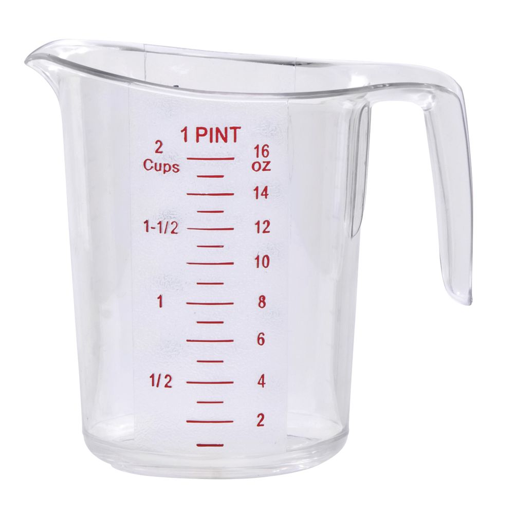 HUBERT Measuring Cup 1 Pint Clear Break Resistant Polycarbonate