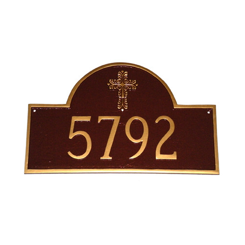 Montague Metal Products Inc. Classic Arch with Cross Address Plaque