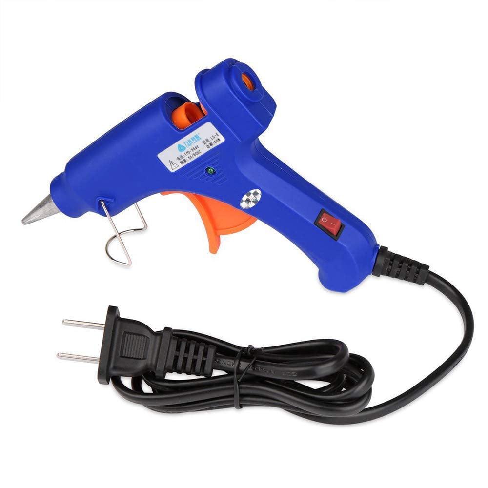 Xelparuc Glue Guns, Mini Hot Glue Gun AC 110-230V High Temperature Melting Glue Gun Kit with 25 Glue Sticks Flexible Trigger for DIY Small Craft Projects and Sealing and Quick Repair(15-20-watt, Blue)