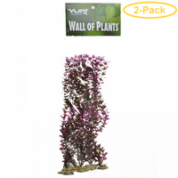 Yup Aquarium Decor Wall of Plants - Red & Green 1 Pack - Pack of 2