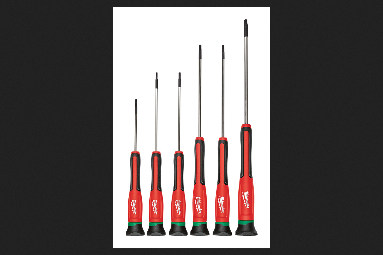 Milwaukee 6 pc. 6 in. Chrome-Plated Steel Torx Precision Screwdriver Set