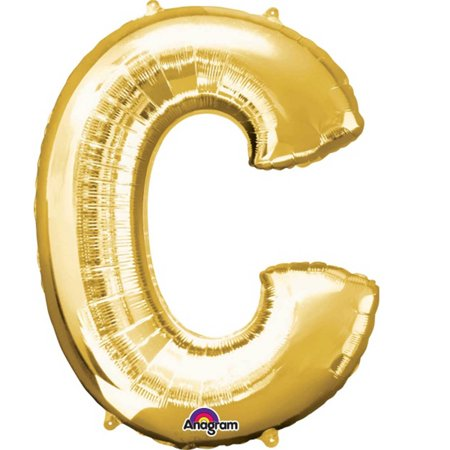 Giant Balloon Letters (Giant Gold Letter C Foil Balloon)