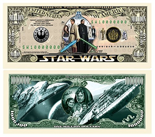 Limited Edition Star Wars Collectible Million Dollar Bill in Currency Holder - image 1 de 1