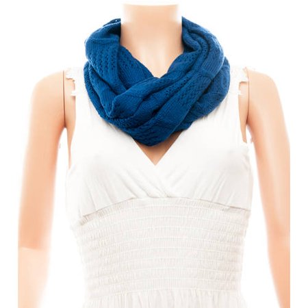 Celik Women's Infiniti Scarves Knitted/Braided Patterns Solid Color