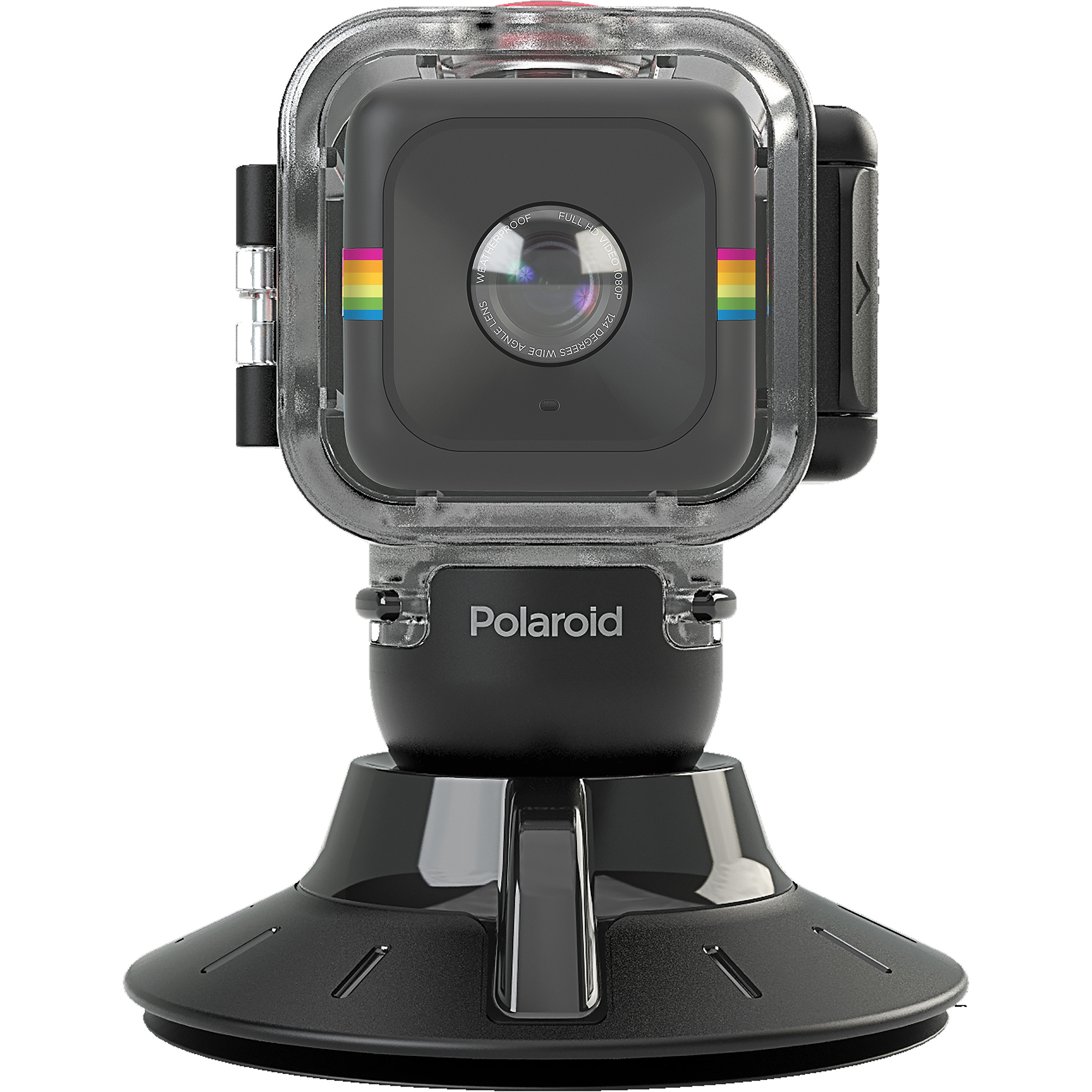 Polaroid CUBE Waterproof Case/Suction Mount