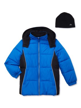 iXtreme Boys Colorblock Puffer Coat with Reflective Details Sizes 4-18 - Free Gift with Purchase