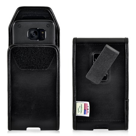 - Samsung Galaxy S7 Edge Basic Holster Belt Clip Case Pouch Turtleback, in Leather and Nylon - Made in USA