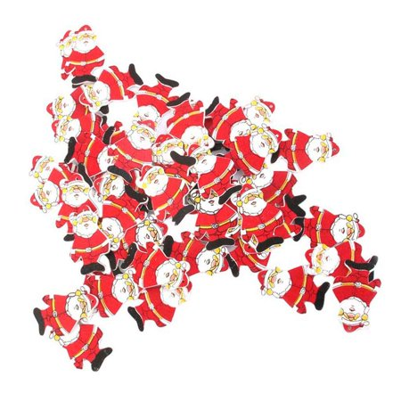 Flying Outlets 50Pcs/Bag Wooden Santa Claus Ornaments Christmas Tree Hanging Pendants DIY Craft Holiday Party Home Decoration - Diy Paper Christmas Decorations