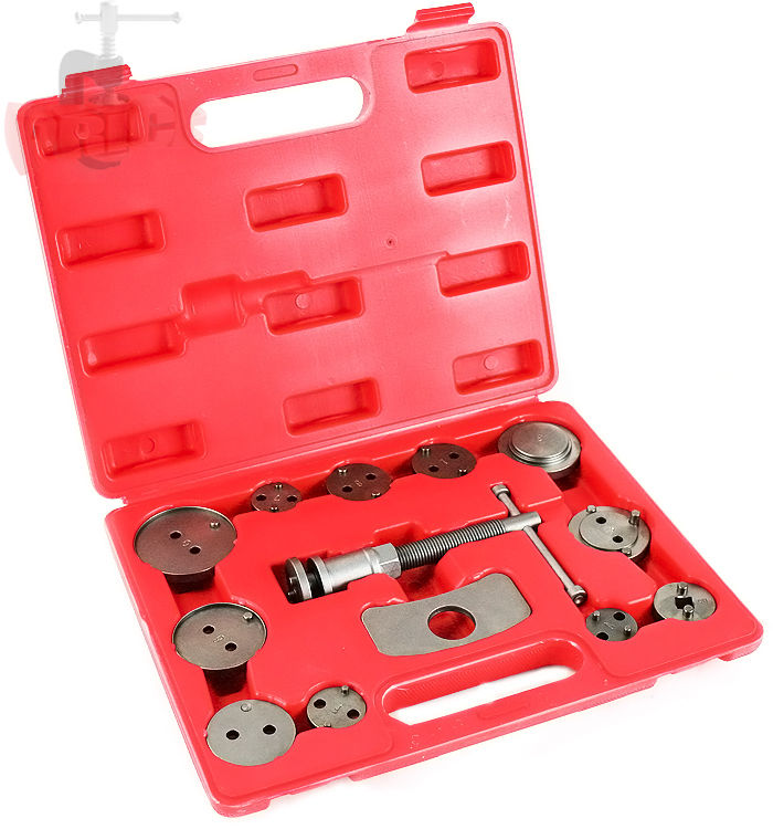 GHP Mechanic's 13-Piece Brake Disc Caliper Wind Back Tool Kit with Blow Molded Case