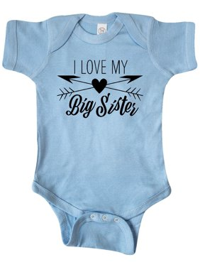 ae96040062 Product Image I Love my Big Sister heart and arrows Infant Creeper