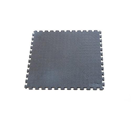 Norsk NSMPRT6DG Rhino-Tec Sport Floor PVC Tiles, 13.95-Square Feet, Dove Gray, 6-Pack
